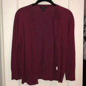 Cranberry Button Up Cardigan